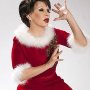 Connie Champagne as Judy Garland at Christmas